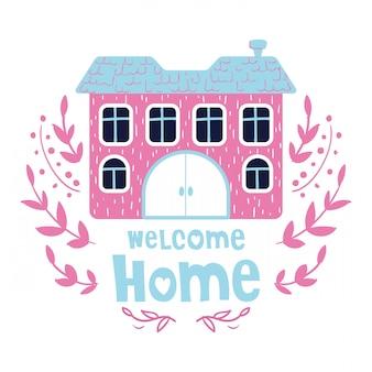 Cartão da casa dos desenhos animados