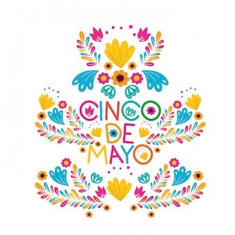 Cartão da celebração de cinco de mayo