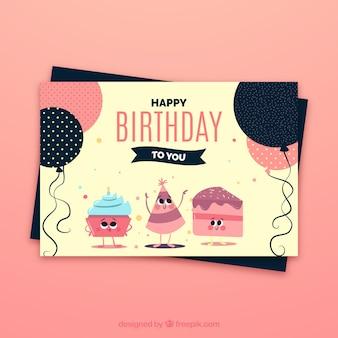 Cartão da celebração do aniversário