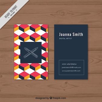 Cartão da empresa com cubos coloridos