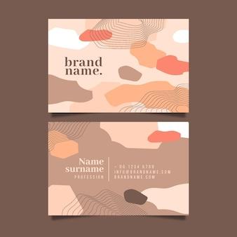 Cartão da empresa com formas nubladas