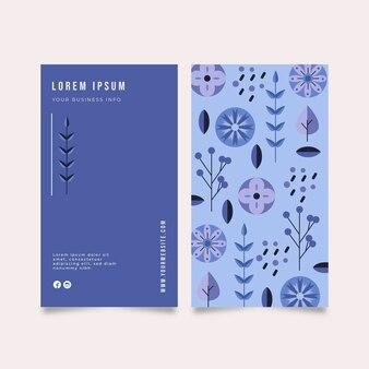 Cartão da empresa com plantas diferentes