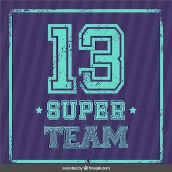 Cartão da equipe super
