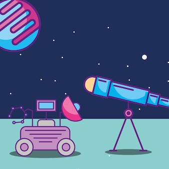 Cartão da galáxia do espaço