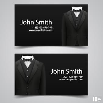 Cartão da jaqueta art. ilustração vetorial. cartão de visitas