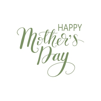 Cartão da rotulação o dia de mãe feliz. ilustração do vetor.