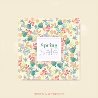 Cartão da venda da primavera florida
