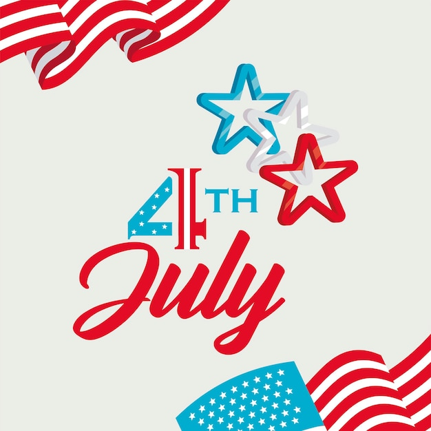 Cartão de 4 de julho