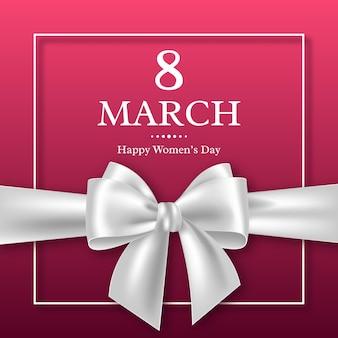 Cartão de 8 de março para o dia internacional da mulher.