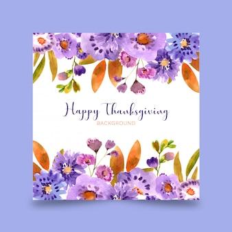 Cartão de ação de graças feliz