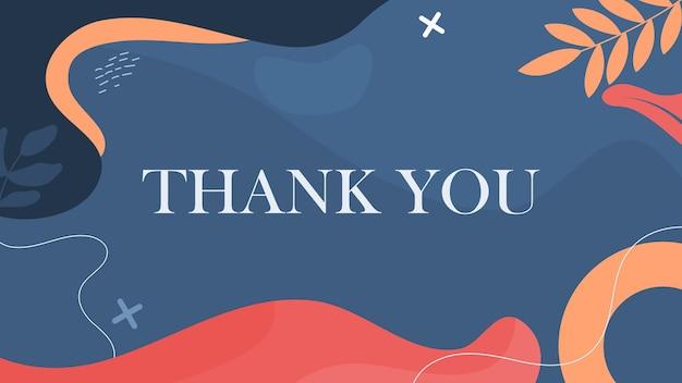 Cartão de agradecimento com desenho abstrato manchado