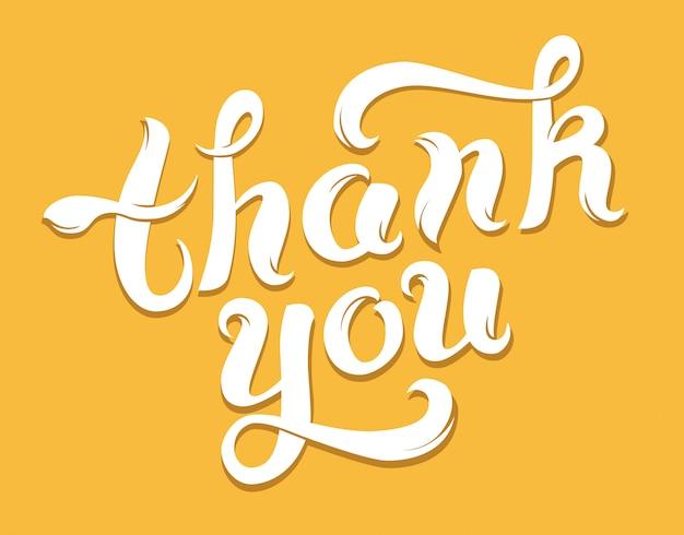 Cartão de agradecimento em amarelo