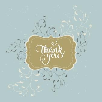 Cartão de agradecimento em estilo vintage