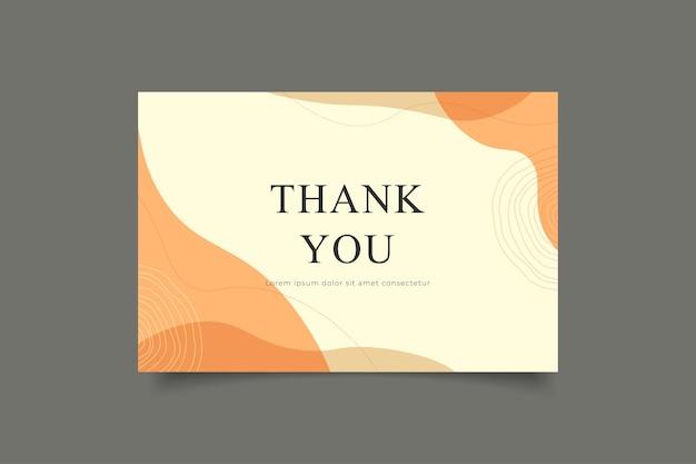 Cartão de agradecimento minimalista moderno