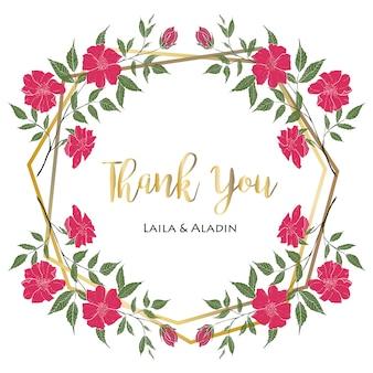 Cartão de agradecimento para convite de casamento