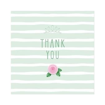 Cartão de agradecimento.