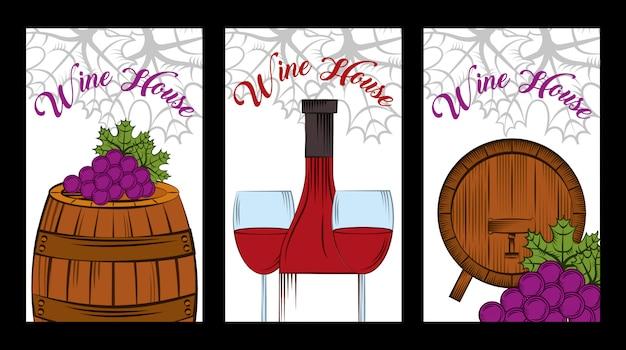 Cartão de álcool de bebida de vinho