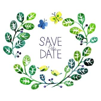 Cartão de amor com aquarela bouquet floral. ilustração em vetor casamento e dia dos namorados