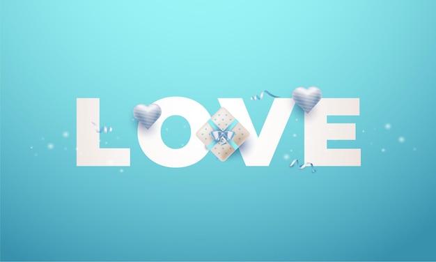 Cartão de amor com texto