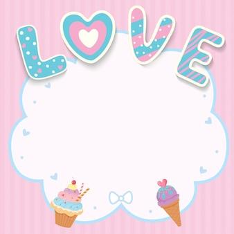 Cartão de amor doce