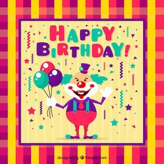 Cartão de aniversário colorido