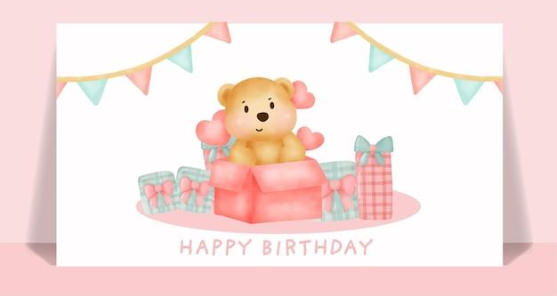 Cartão de aniversário com lindo unicórnio segurando a estrela.