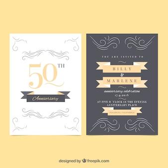 Cartão de aniversário com ornamentos