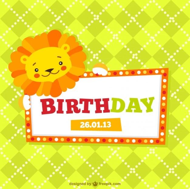 Cartão de aniversário das crianças