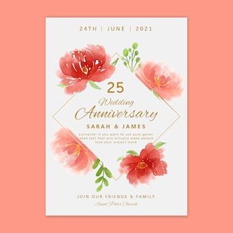 Cartão de aniversário de 25 anos
