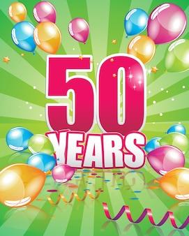 Cartão de aniversário de 50 anos