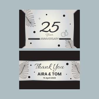 Cartão de aniversário de anos de casamento