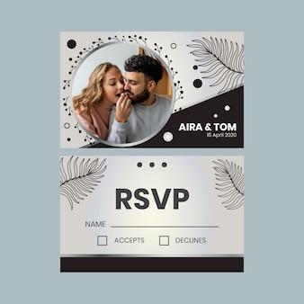 Cartão de aniversário de anos de casamento Vetor grátis