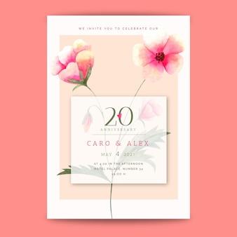 Cartão de aniversário de casamento