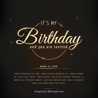 Cartão de aniversário de luxo