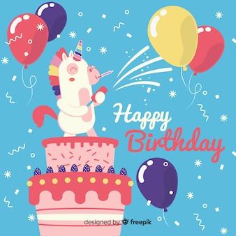 Cartão de aniversário divertido