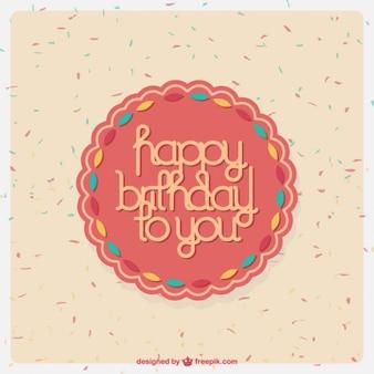 Cartão de aniversário doce desing
