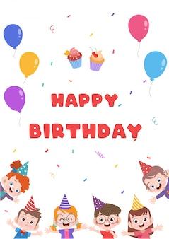 Cartão de aniversário para crianças