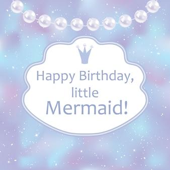 Cartão de aniversário para menina