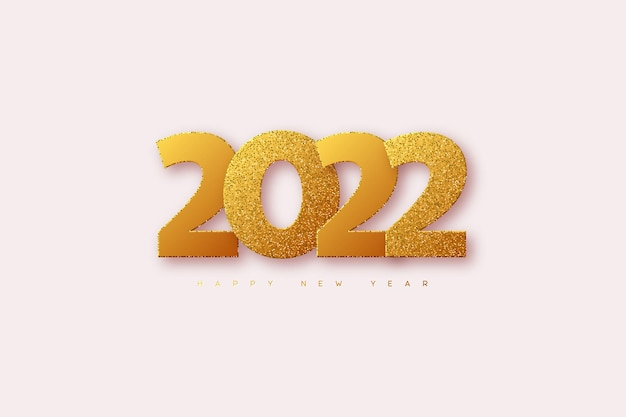 Cartão de ano novo de 2022