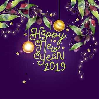 Cartão de ano novo de anna