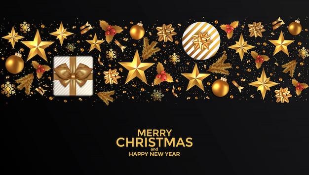 Cartão de ano novo de férias