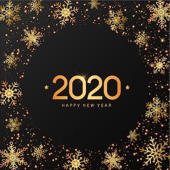 Cartão de ano novo dourado
