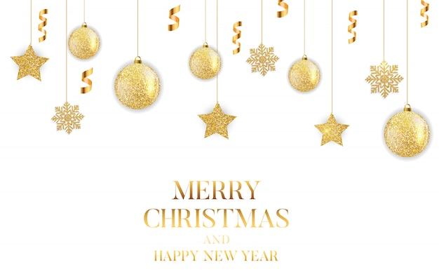Cartão de ano novo e feliz natal