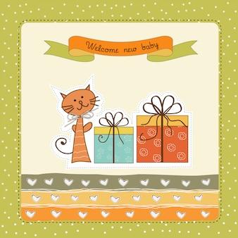 Cartão de anúncio de aniversário