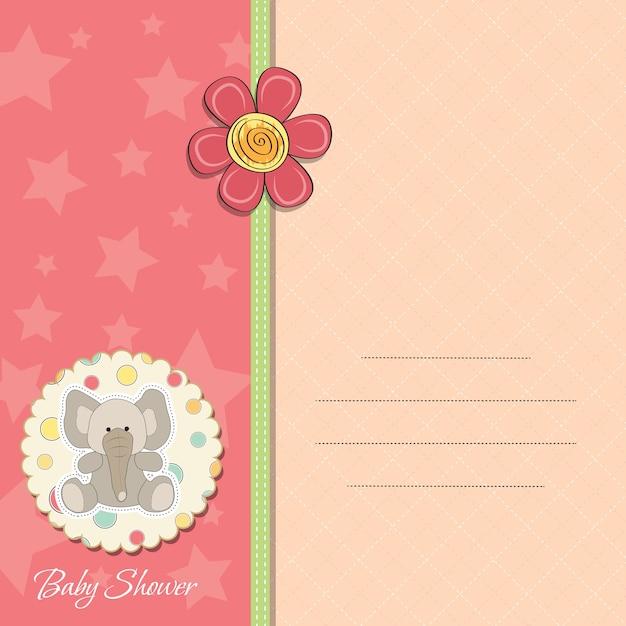 Cartão de anúncio de menina bebê romântico