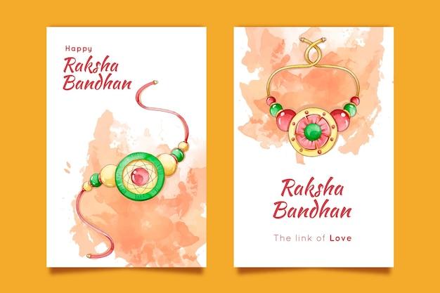 Cartão de aquarela raksha bandhan