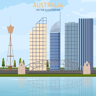 Cartão de arquitetura da austrália
