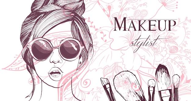 Cartão de artista de maquiador.