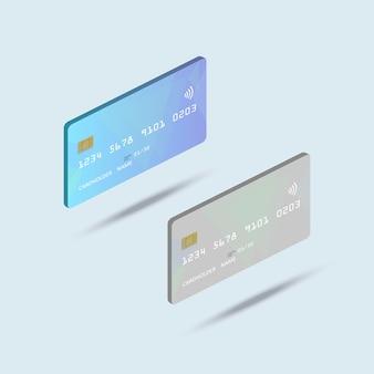 Cartão de banco isométrico