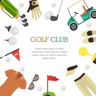 Cartão de banner de clube de golfe para sua empresa
